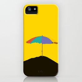 Colorful Parasol Black Yellow Background #decor #society6 #buyart iPhone Case