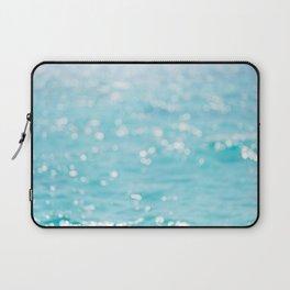 Rippling Sparkling Blue Ocean Photo Laptop Sleeve