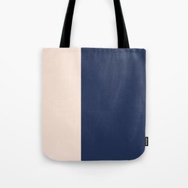 peach and navy stripes, minimalist, simple design, cool, chic, modern, elegant Tote Bag