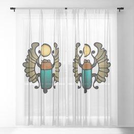 Scarab Amulet Sheer Curtain