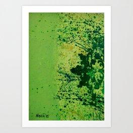 Monochrome Green Art Print