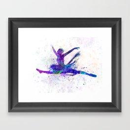 Woman ballerina ballet dancer dancing Framed Art Print