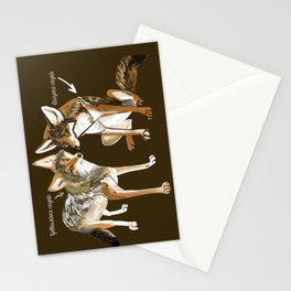 Coyotes in love Stationery Cards