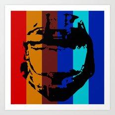 Halo Helmet - Red vs. Blue Team Art Print