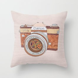 WOOD CAN0N Throw Pillow