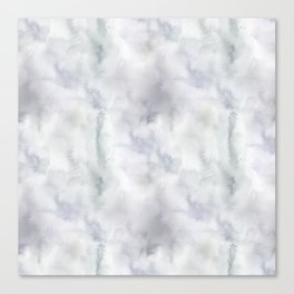 Abstract modern gray lavender watercolor pattern Canvas Print