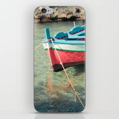 Pastel boat iPhone & iPod Skin