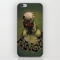 kakashi iPhone & iPod Skins featuring Flesh Eating Sensei?! by Mike Fuego