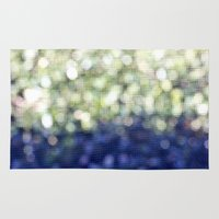 bokeh Area & Throw Rugs featuring Bokeh by natalie sales