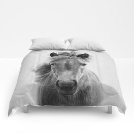 Wild Horse - Black & White Comforters