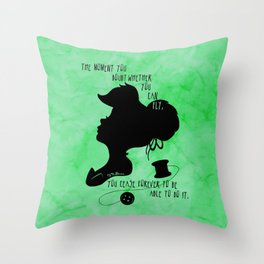 The Moment You Doubt You Can Fly Throw Pillow