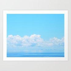 Pacific blues Art Print