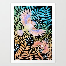 Tropical Bird Art Print