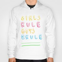 girl power Hoodies featuring Girl Power by Lovisa Valentino