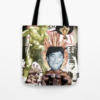sport Tote Bags featuring COLLAGE: Sport by Diavu'