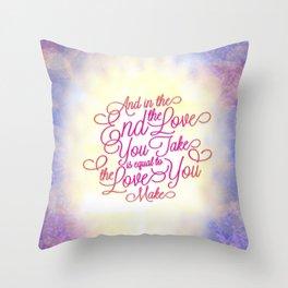 TYPOGRAPHY DESIGN Throw Pillow