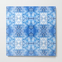 212 - Blue Sky and clouds abstract pattern Metal Print
