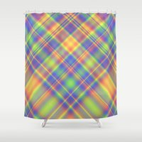 plaid Shower Curtains featuring Plaid by Lyle Hatch