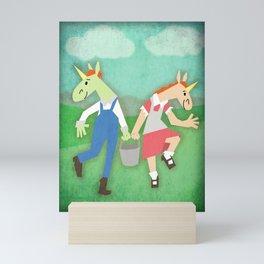 Jack & Jill Unicorn Mini Art Print