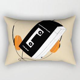 I hear sad chillwave music Rectangular Pillow
