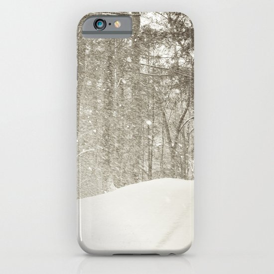 Stopping by a Snowy Woods iPhone & iPod Case