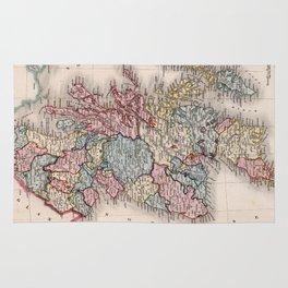 Vintage Map of Scotland (1832) Rug