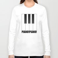 piano Long Sleeve T-shirts featuring PIANO!PIANO! by AWOwens