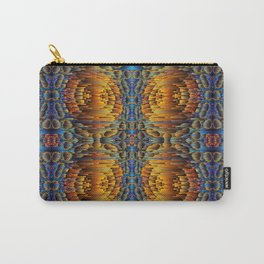Waterfalls - psychedelic golden river Carry-All Pouch