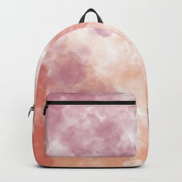 Pastel watercolor clouds Backpack