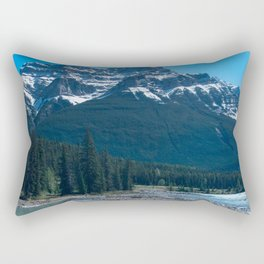 Rocky Riverbed Photography Print Rectangular Pillow