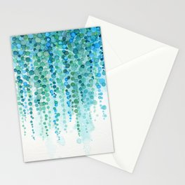 String of Pearls Watercolor Stationery Cards