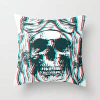 kindle Throw Pillows featuring 200 by ALLSKULL.NET