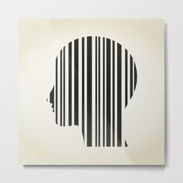 Head stroke a code Metal Print
