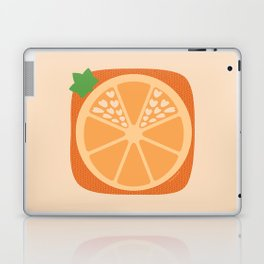 Orange Heart Laptop & iPad Skin