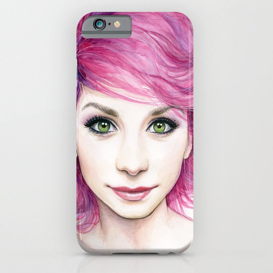 Pink Hair Girl iPhone & iPod Case