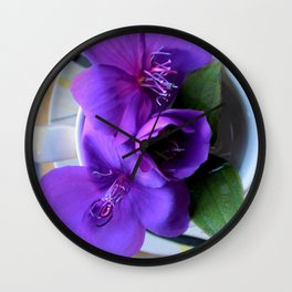 For All The T In Tibouchina Wall Clock