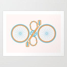 Bike pattern Art Print
