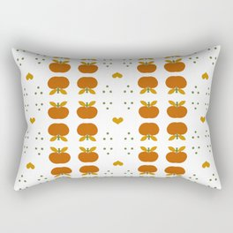 Retro Apple Print Rectangular Pillow