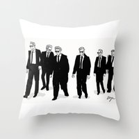 reservoir dogs Throw Pillows featuring Reservoir Dogs. by AmyLianneMuir