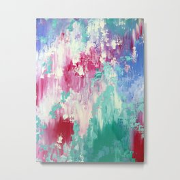 Pink abstract design Metal Print