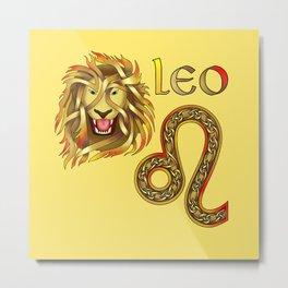 Leo Knot Metal Print