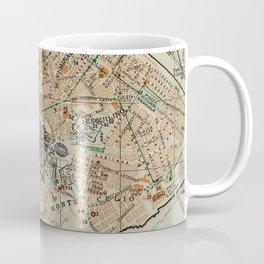 Vintage Map of Rome Italy (1911) Coffee Mug