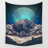jazzberry Wall Tapestries featuring Under the Stars (Ursa Major) by soaring anchor designs