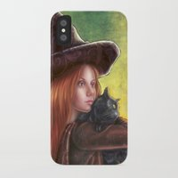witch iPhone & iPod Cases featuring Witch by Miguel Angel Carroza