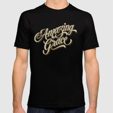 Amazing Grace Black Mens Fitted Tee MEDIUM