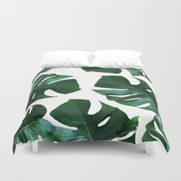 Monstera exotica Duvet Cover