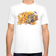 May Jackalope White Mens Fitted Tee MEDIUM
