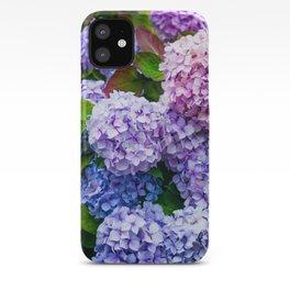 Purple Hydrangeas iPhone Case