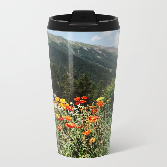 Mountain garden Metal Travel Mug