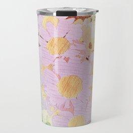Pink Sorbet Chamomile Flowers Travel Mug